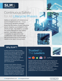 Mangan Software Solutions – Safety Lifecycle Manager (SLM®)